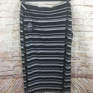 Ava & Viv Skirts - NWT Ava&Viv Plus Size Ebony Stripe Skirt-NEW-4X
